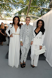 STOOSHE - Left to right,  KARIS ANDERSON, COURTNEY RUMBOLD and ALEXANDRA BUGGS at the Glamour Women of the Year Awards in association with Pandora held in Berkeley Square Gardens, London on 4th June 2013.