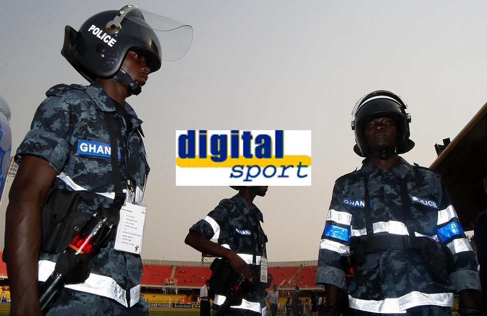 Photo: Steve Bond/Richard Lane Photography.<br />Guinea v Morocco. Africa Cup of Nations. 24/01/2008. The Ghana police keep order