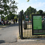UK Weather: People enjoy playing at Diana, Princess of Wales Memorial Playground during the longest Heatwave continues in Hype park, London, UK. July 26 2018.