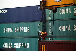 Tianjin, China,exporting, dock workers, Chinese, shipping, port, trucks, export, industrial, container, shipping containers,