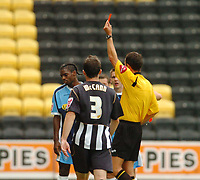 Photo: Leigh Quinnell.<br /> Notts County v Wycombe Wanderers. Coca Cola League 2. 12/08/2006. Wycombes Anthony Grant is sent off by referee D.Deadman.