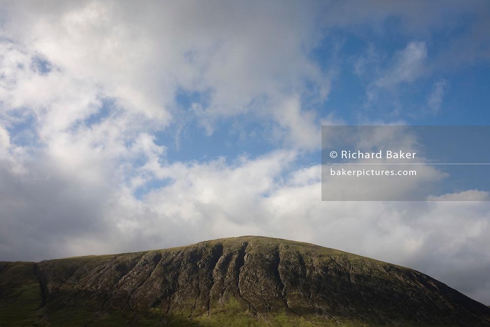 Upper slopes of Beinn a Chrulaiste mountain seen from Glencoe, Scotland.
