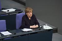 17 FEB 2016, BERLIN/GERMANY:<br /> Angela Merkel, CDU, Bundeskanzlerin, waehrend der Debatte zu ihrer Regierunsgerklaerung der zum Europaeischen Rat, Plenum, Deutscher Bundestag<br /> IMAGE: 20160217-03-046<br /> KEYWORDS: Debatte