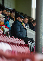 Arbroath's manager Dick Campbell. Arbroath 2 v 0 Queen of the South, Scottish Championship game played 15/2/2020 at Arbroath's home ground, Gayfield Park.