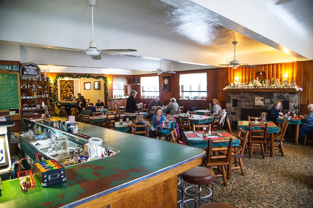Interior of The Brownstone Inn of AuTrain Michigan.