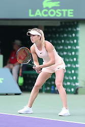 March 28, 2018 - Key Biscayne, Florida, United States Of America - KEY BISCAYNE, FL - MARCH 28: Jelena Ostapenko  during day 11 of the Miami Open Presented by Itau at Crandon Park Tennis Center on March 28, 2018 in Key Biscayne, Florida. ...People:  Jelena Ostapenko. (Credit Image: © SMG via ZUMA Wire)
