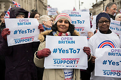 © Licensed to London News Pictures. 13/12/2017. London, UK. A rally in Parliament Square in support of Amendment 7 to the EU Withdrawal Bill. Photo credit: Rob Pinney/LNP