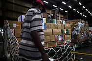 Pallets of Khat are prepared for shipment at a warehouse at the Nairobi airport, 3000? tons a year are shipped to the UK, providing a good income for many in Kenya.