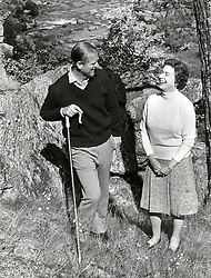Oct. 1, 1972 - Balmoral, England, U.K. - The elder daughter of King George VI and Queen Elizabeth, ELIZABETH WINDSOR (named Elizabeth II) became Queen at the age of 25, and has reigned through more than five decades of enormous social change and development. PICTURED: QUEEN ELIZABETH II and PRINCE PHILIP, Duke of Edinburgh taking a walk together.  (Credit Image: © Keystone Press Agency/Keystone USA via ZUMAPRESS.com)