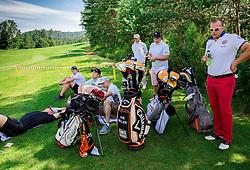 David Hopf of Australia and other athletes during Slovenia Long Drivers European Tour  Championship on July 5, 2014 in  Golf Arboretum Ljubljana, Volcji Potok, Slovenia. Photo By Vid Ponikvar / Sportida