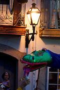 Ouro Preto_MG, Brasil.<br /> <br /> Folioes desfilam pelas ruas historicas de Ouro Preto no bloco Balanco da Cobra, Minas Gerais.<br /> <br /> People in Balanco da Cobra carnival band in Ouro Preto carnival in Minas Gerais.<br /> <br /> Foto: MARCUS DESIMONI / NITRO
