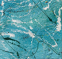 clotted enamel painting art: texture on canvas