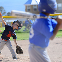 062013  Adron Gardner/Independent<br /> <br /> Red Sox Jeremy Reynolds (1) launches a pitch to a Dodger in Grants Thursday.