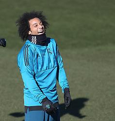 December 4, 2017 - Madrid, Spain - Marcelo reacts during a training session at Valdebebas training ground on December 5, 2017 in Madrid, Spain. (Credit Image: © Raddad Jebarah/NurPhoto via ZUMA Press)