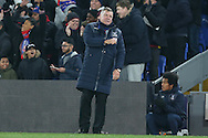 Sam Allardyce, the Crystal Palace manager punches the air and celebrates after Christian Benteke of Crystal Palace scores his sides 2nd goal. <br /> Emirates FA Cup 3rd round replay match, Crystal Palace v Bolton Wanderers at Selhurst Park in London on Tuesday 17th January 2017.<br /> pic by John Patrick Fletcher, Andrew Orchard sports photography.
