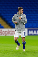Cardiff City's Will Vaulks (6) during the pre-match warm-up at the EFL Sky Bet Championship match between Cardiff City and Birmingham City at the Cardiff City Stadium, Cardiff, Wales on 16 December 2020.