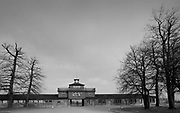 """Buchenwald; literallybeech forest) was aNazi concentration campestablished onEttersberghill nearWeimar,Germany, in July 1937. On the main gate, the mottoJedem das Seine(English: """"To each his own""""), was inscribed. The SS interpreted this to mean the """"master race"""" had a right to humiliate and destroy others<br /> It was one of the first and the largest of the concentration camps within Germany's1937 borders. Many actual or suspected communists were among the first internees.<br /> Prisoners came from all over Europe and the Soviet Union—Jews,Polesand otherSlavs, the mentally ill and physically disabled, political prisoners,Romani people,Freemasons, and prisoners of war. There were also ordinary criminals and sexual """"deviants"""". All prisoners worked primarily as forced labour in local armaments factories. The insufficient food and poor conditions, as well as deliberate executions, led to 56,545 deaths at Buchenwald of the 280,000 prisoners who passed through the camp and its 139 subcamps.The camp gained notoriety when it was liberated by the United States Army in April 1945; Allied commanderDwight D. Eisenhowervisited one of itssubcamps.<br /> From August 1945 to March 1950, the camp was used by the Soviet occupation authorities as an internment camp,NKVD special camp Nr. 2, where 28,455 prisoners were held and 7,113 of whom died. Today the remains of Buchenwald serve as a memorial and permanent exhibition and museum."""