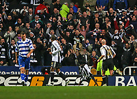 Photo: Andrew Unwin.<br /> Newcastle United v Reading. The Barclays Premiership. 06/12/2006.<br /> Newcastle's Obafemi Martins celebrates his goal in trademark style.