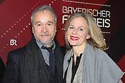 Thomas Darchinger und Katharina Schwarz auf dem Roten Teppich anlässlich der Verleihung des 41. Bayerischen Filmpreises 2019 am 17.01.2020 im Prinzregententheater München.