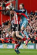 Tim Krul of Norwich City collect the ball clattering into Oli McBurnie of Sheffield Utd forcing him to leave the field during the Premier League match at Bramall Lane, Sheffield. Picture date: 7th March 2020. Picture credit should read: Simon Bellis/Sportimage