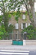 The house of Marechal General Joseph Jacques Cesaire Joffre. Rivesaltes town, Roussillon, France
