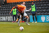 Football - 2020 / 2021 Emirates FA Cup - Round 2 - Barnet vs Milton Keynes Dons - The Hive<br /> <br /> Muhammadu Faal (Barnet FC) goes flying after being tripped by Stephen Walker (MK Dons)<br /> <br /> COLORSPORT/DANIEL BEARHAM