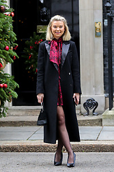 © Licensed to London News Pictures. 10/12/2018. London, UK. Georgia Toffolo arrives in Downing Street for a Children Christmas reception in No 11 Downing Street, hosted by Philip Hammond. Photo credit: Dinendra Haria/LNP