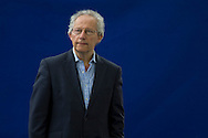 Former British Labour party politician and First Minister of Scotland Henry McLeish, pictured at the Edinburgh International Book Festival where he took part in a debate on Scottish independence. The three-week event is the world's biggest literary festival and is held during the annual Edinburgh Festival. The 2012 event featured talks and presentations by more than 500 authors from around the world.