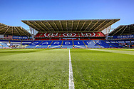 General view of the inside of the Cardiff City Stadium stadium ahead of the UEFA European 2020 Qualifier match between Wales and Slovakia at the Cardiff City Stadium, Cardiff, Wales on 24 March 2019.