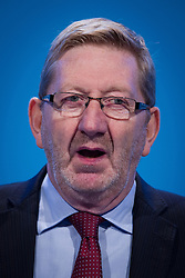 """© Licensed to London News Pictures . File pic dated 23/09/2013 . Brighton , UK . General Secretary of Unite Union , LEN MCCLUSKEY , during the Work and Business session . Day 2 of the Labour Party 's annual conference in Brighton . Len McCluskey has threatened to withdraw funding from the Labour Party if the  """"correct leader"""" isn't chosen.  Photo credit : Joel Goodman/LNP"""