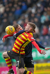 Partick Thistle's Craig Slater and Falkirk's Paul Dixon. Falkirk 1 v 1 Partick Thistle, Scottish Championship game played 16/3/2019 at The Falkirk Stadium.