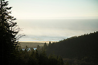 Scenic view of the Pacific ocean and Tillamook Bay, OR.