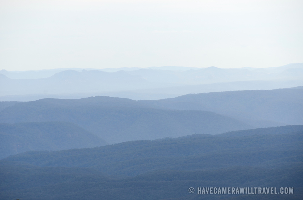 Blue Mountains as seen from Echo Point in Katoomba, New South Wales, Australia.