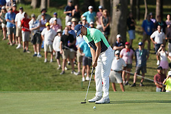 August 9, 2018 - St. Louis, Missouri, United States - Jordan Spieth putts during the first round of the 100th PGA Championship at Bellerive Country Club. (Credit Image: © Debby Wong via ZUMA Wire)