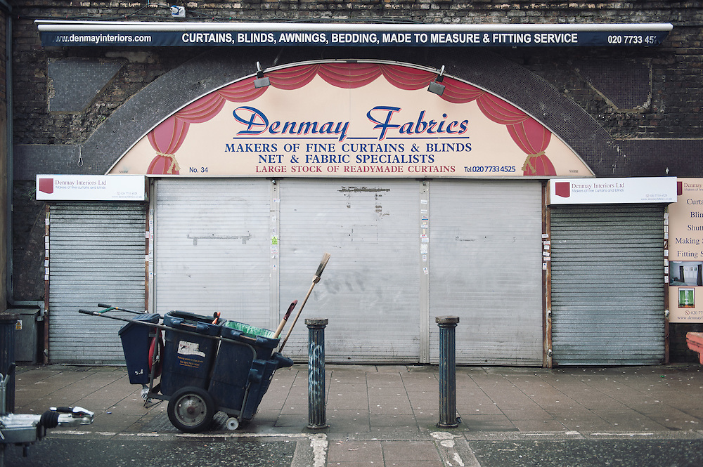 Denmay Fabrics. <br /> 34 Brixton Station Road. <br /> <br /> The business was established in 1948, the current owner took over 18 years ago. If the proposed evictions happen 10 persons will lose their jobs.