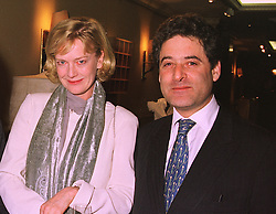 Editor of Tatler magazine JANE PROCTER and her husband MR THOMAS GOLDSTAUB, at an exhibition of 4th February 1999.MNX 35 2ORO