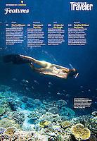 Maldives Conde Nast Traveler, Maldives, Snorkle, underwater, girl swimming, swimming, corals, crystal clear, photo dan kullberg, perrier, water,