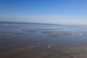Nederland, Groningen, Gemeente Delfzijl, 01-05-2013; water van de Eems gezien naar de kust ten noorden van Emden (Duitsland). Waddengebied.<br /> View of the Ems to the coast north of Emden (Germany). Wadden Sea.<br /> luchtfoto (toeslag op standard tarieven);<br /> aerial photo (additional fee required);<br /> copyright foto/photo Siebe Swart
