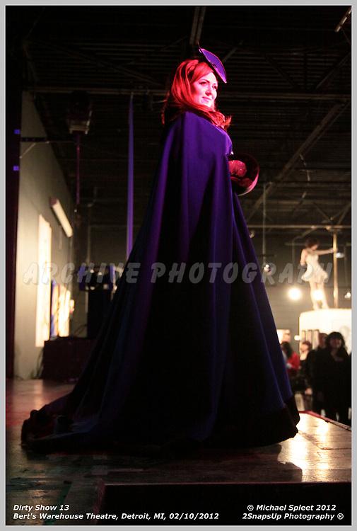 DETROIT, MI, FRIDAY, FEB. 10, 2012: Dirty Show 13, Roxi D'Lite at Bert's Warehouse Theatre, Detroit, MI, 02/10/2012.  (Image Credit: Michael Spleet / 2SnapsUp Photography)