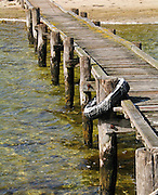 A dock extends into the ocean in Western Australia.