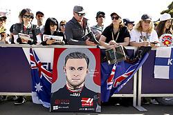 March 14, 2019 - Melbourne, Australia - Motorsports: FIA Formula One World Championship 2019, Grand Prix of Australia, ..Fans of #20 Kevin Magnussen (DEN, Rich Energy Haas F1 Team) (Credit Image: © Hoch Zwei via ZUMA Wire)