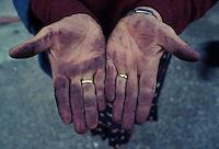 Wineworker's hands, near Parma, Italy - Photograph by Owen Franken