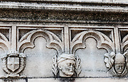Milan, up on the Duomo Terraces, the face of the Duce