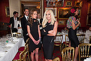 ALLEGRA VERSACE; DONATELLA VERSACE, Dinner hosted by Elizabeth Saltzman for Mario Testino and Kate Moss. Mark's Club. London. 5 June 2010. -DO NOT ARCHIVE-© Copyright Photograph by Dafydd Jones. 248 Clapham Rd. London SW9 0PZ. Tel 0207 820 0771. www.dafjones.com.