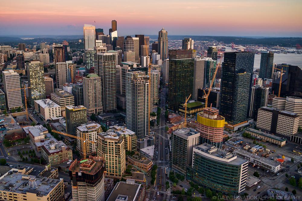 Westlake Avenue Bifurcation, Downtown Seattle