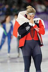 February 18, 2018 - Gangneung, South Korea -  Bronze medal winner KAROLINA ERBANOVA of Czech Republic after Speed Skating: Ladies' 500m at Gangneung Oval at the 2018 Pyeongchang Winter Olympic Games. (Credit Image: © Scott Mc Kiernan via ZUMA Wire)