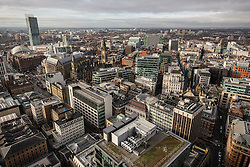 © Licensed to London News Pictures . 07/12/2013 . Beetham Tower , Manchester Town Hall , GMex , Manchester Centre , Town Hall , Midland Hotel . Cityscape view of Manchester . Photo credit : Joel Goodman/LNP