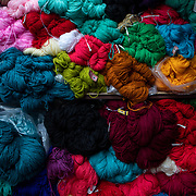Yarn for sale in the market of Ranikhet, India on Dec. 6, 2018.