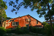 Old dilapidated building in Alexandroupoli, Evros regional unit in East Macedonia and Thrace.