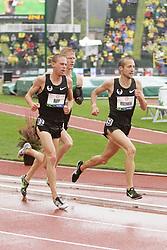 Olympic Trials Eugene 2012: men's 10,000 meter fianal, top three making Olympic team, Ritzenhein leads Rupp, Tegankamp